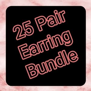 25 Pair Mixed Earring Bundle